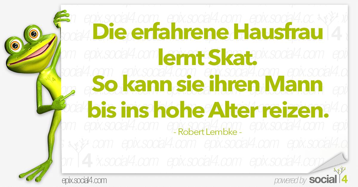 Schlaue Sprueche - Hausfrau - Robert Lembke